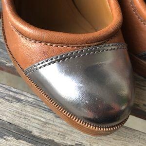 Tory Burch Shoes - Tory Burch Nova cap toe metallic heels size 10